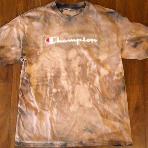 Champion logo t shirt rework camo